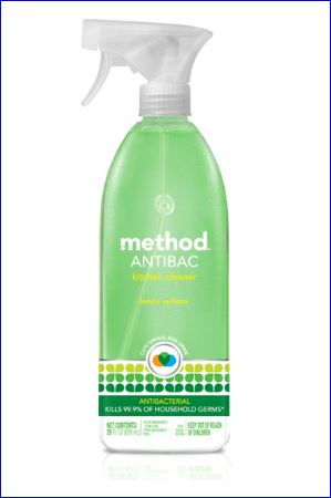 Method antibacterial kitchen cleaner